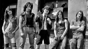 Angus Young Stage fright