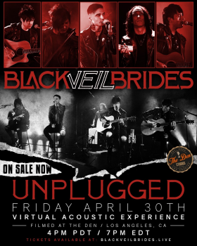 Black Veil Brides Announce Unplugged­ A Global Virtual Acoustic Experience Scheduled For April 30th.