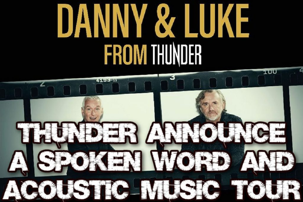 Thunder Announce a Spoken Word and Acoustic Music tour.